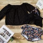 Set: Floral Print Bikini + Lace Cover-Up 1596