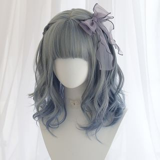 Image of Medium Full Wig - Wavy Dark Gray - One Size