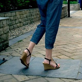 Buy Smoothie Chain-Strap Wedge Sandals 1022779817