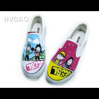 Image of A Happy Life Canvas Slip-Ons