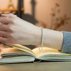 925 Sterling Silver Beaded Bracelet 1596
