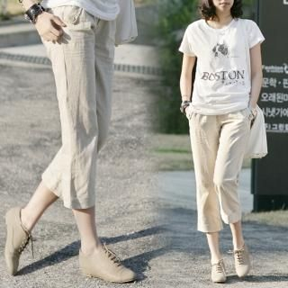 Buy Jcstyle Cropped Linen Pants 1022715580