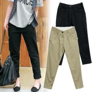 Buy MOUL STYLE Drop-Crotch Cotton Pants 1022727306