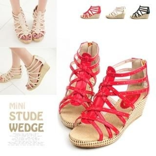 Buy Miz shoes Studded Strappy Wedge Sandals 1022982861