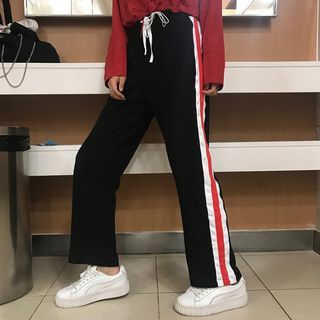 Contrast Trim Sweatpants 1061919232