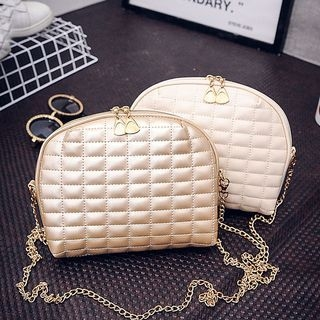 Chain Strap Quilted Crossbody Bag