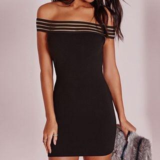 Off-Shoulder Bodycon Dress 1052696759