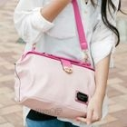 Faux-Leather Crossbody Bag Pink - One Size