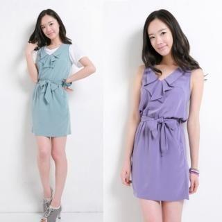 Buy Celli Girl Ruffle Neckline Sleeveless Dress 1022578810