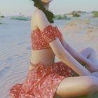 Set: Flower Print Bikini + Swim Skirt 1596