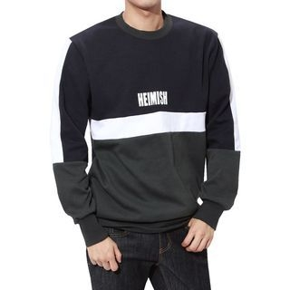 Printed Color-Block Sweatshirt 1065031543