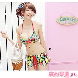 Buy Wonderland Pattern Bikini Set 1022843579