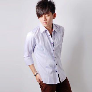 Buy SLOWTOWN 3/4-Sleeve Pinstripe Shirt 1023009527