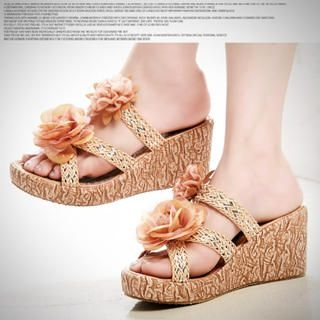Picture of Kvoll Corsage Wedges Mules 1022533466 (Other Shoes, Kvoll Shoes, China Shoes, Womens Shoes, Other Womens Shoes)