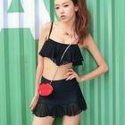 Set: Perforated Bikini + Swim Skirt 1596