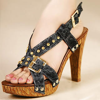 Buy Kvoll Studded Buckled Sandals 1023009535