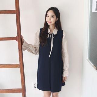 Round-Neck Sleeveless Mini Dress 1053071722