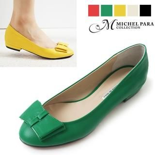 Picture of MICHEL PARA COLLECTION Bow-Accent Flats 1023037107 (Flat Shoes, MICHEL PARA COLLECTION Shoes, Korea Shoes, Womens Shoes, Womens Flat Shoes)