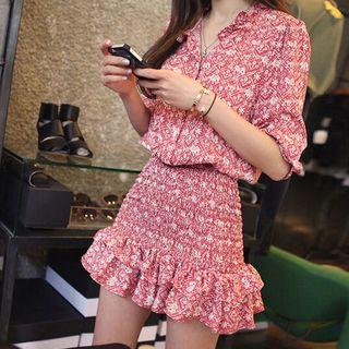 Chiffon | Ruffle | Floral | Dress | Mini