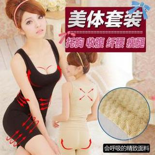 Set: Shaping Tank Top + Panties Black - One Size 1039220469