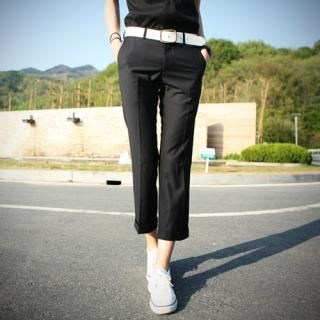 Buy Style Engine Pleated Ankle Length Pants 1022731564