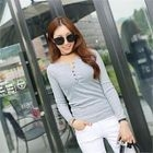 Long-Sleeve Slim-Fit Ribbed Henley 1596