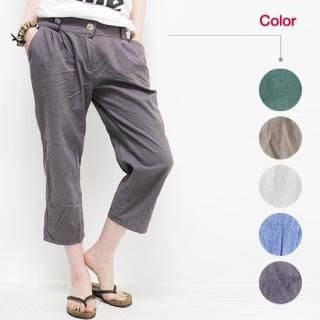 Picture of Beccgirl Cropped Linen Blend Pants 1022976910 (Beccgirl Apparel, Womens Pants, South Korea Apparel)