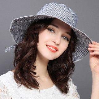 Image of Check Sun Hat