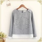 Mock Two-piece Perforated Sweatshirt 1596