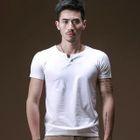 Split-neck Short-Sleeve T-shirt 1596