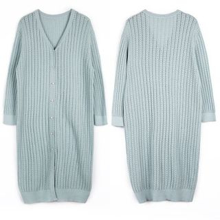 Plain Ribbed Cardigan 1063993551