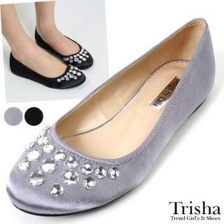 Buy Trisha Bejeweled Satin Flats 1022492347