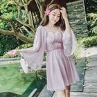 Frilled Chiffon A-Line Dress 1596