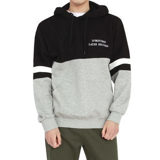 Lettering Two-Tone Hoodie 1065490962