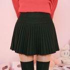 Pleated A-Line Mini Skirt 1596
