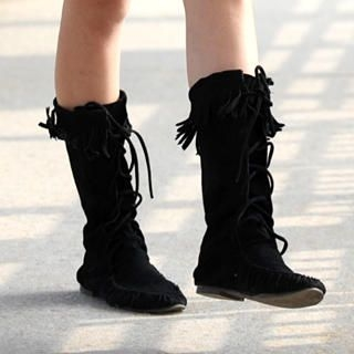 Buy 59 Seconds Fringed Lace-Up Boots 1012162444