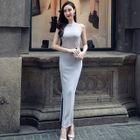 Sleeveless Slit-Side Maxi Dress 1596