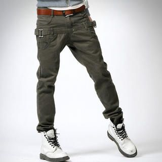 Picture of deepstyle Belted Hip Pants 1021889382 (deepstyle, Mens Pants, Korea)