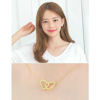 Knotted Heart Pendant Necklace 1045141265