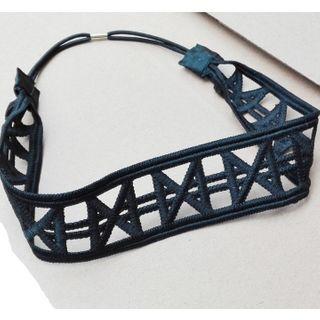 Image of Patterned Head Band Headband - Black - One Size
