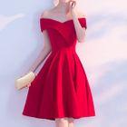Off-shoulder Short-Sleeve Dress 1596