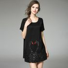Short-Sleeve Sequined Dress 1596