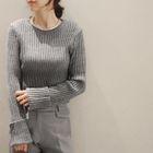 Long-Sleeve Ribbed Sweater 1596