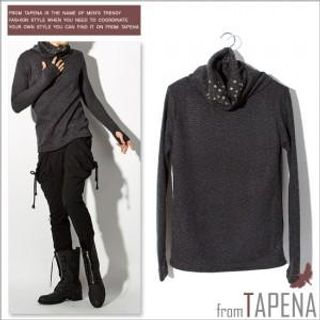Buy TAPENA Star Studded Turtleneck Top 1021921009