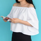Off-shoulder Short-Sleeve Top 1596