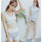 Set: Floral Bikini + T-Shirt 1596