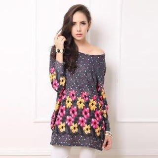 Floral Long-Sleeve Tunic 1039375195