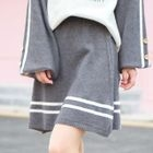 Stripe Knit Mini Skirt 1596