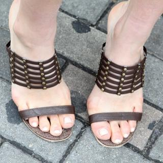 Buy Drama Metal Studded Sandals 1022785779
