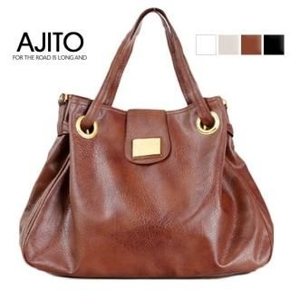 Picture of AJITO Faux-Leather Satchel 1022773860 (AJITO, Satchels, Korea Bags, Womens Bags, Womens Satchels)